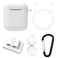 Чехол силиконовый DS Case для Apple AirPods/ AirPods 2 White (343532331)