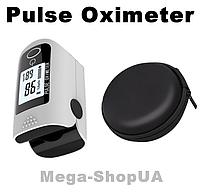 Пульсометр оксиметр на палец с чехлом Oximeter DR43UG. Пульсоксиметр. Измеритель пульса. Измеритель кислорода, фото 1