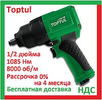 Toptul KAAJ1680 Пневмогайковерт 1 2 дюйма, 1085 Нм, для шиномонтажа, ударный, воздушный, пневмопистолет топтул