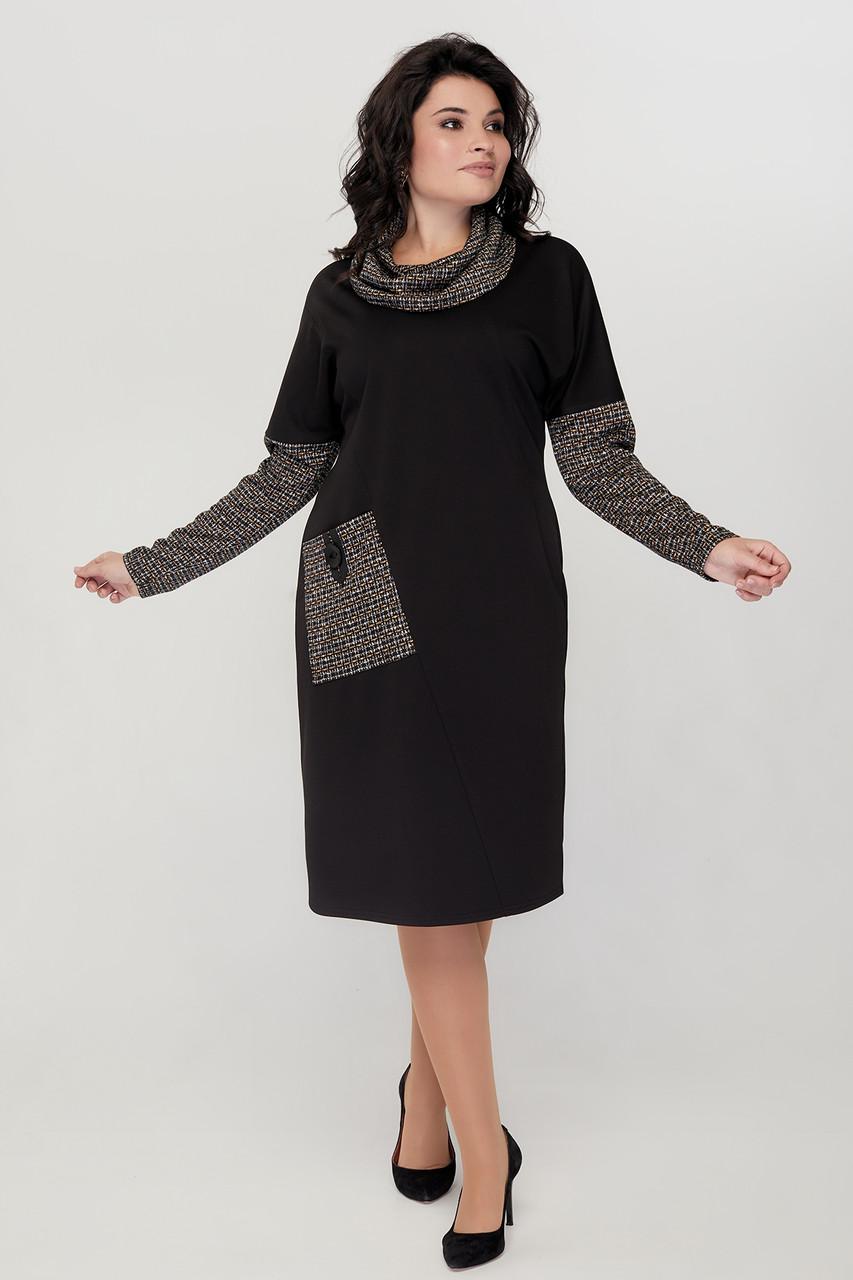 Теплое нарядное платье с 52 по 62 размеры