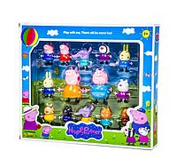 Игровой набор фигурок Свинка Пеппа Happy Partner 14 шт