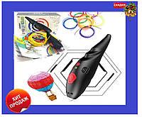 3Д ручка низкотемпературная, для детей с пластиком и трафаретами для рисования