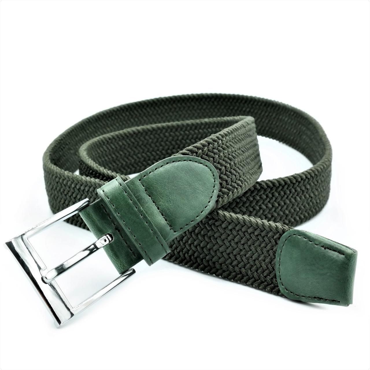 Ремінь гумка Le-Mon Темно-зелений (rez35-aln-008)