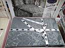 Покривало жакардове з наволочками ZERON Sonil Venus Gri 240x260 см Сірий (1005445), фото 2