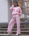Спортивный костюм женский  розовый на флисе сезон зима Джин от бренда Тур, размеры: S-M, фото 2
