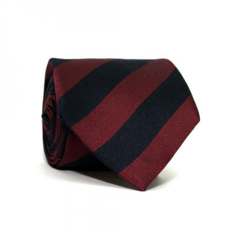 Краватка Emilio Corali Синьо-Бордовий В Смужку Gin-2247