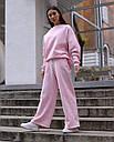 Спортивный костюм женский  розовый на флисе сезон зима Джин от бренда Тур, размеры: S-M, фото 3