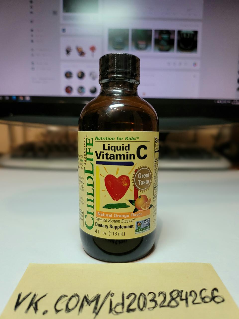 Витамин С для детей ChildLife Liquid Vitamin C 118 ml
