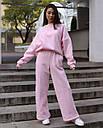 Спортивный костюм женский  розовый на флисе сезон зима Джин от бренда Тур, размеры: S-M, фото 5