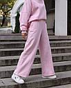 Спортивный костюм женский  розовый на флисе сезон зима Джин от бренда Тур, размеры: S-M, фото 6