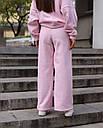 Спортивный костюм женский  розовый на флисе сезон зима Джин от бренда Тур, размеры: S-M, фото 7