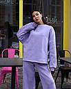 Спортивный костюм женский  лиловый на флисе сезон зима Джин от бренда Тур, размеры: S-M, фото 3