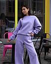 Спортивный костюм женский  лиловый на флисе сезон зима Джин от бренда Тур, размеры: S-M, фото 4