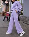 Спортивный костюм женский  лиловый на флисе сезон зима Джин от бренда Тур, размеры: S-M, фото 6
