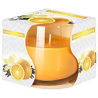 Ароматическая свеча в стекле Ваниль и апельсин Bispol sn71s