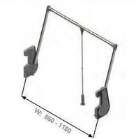 S - 6014, лифт пантограф, на 15кг 850-1150х140х900мм, серый/хром
