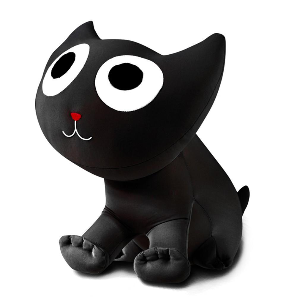 М'яка іграшка антистрес Кіт Лаккі Expetro Чорний (А202)