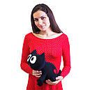 Мягкая игрушка антистресс Кот Лакки Expetro Черный (А202), фото 3