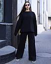 Спортивный костюм женский  чёрный на флисе сезон зима Джин от бренда Тур, размеры: S-M, фото 2