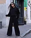 Спортивный костюм женский  чёрный на флисе сезон зима Джин от бренда Тур, размеры: S-M, фото 3