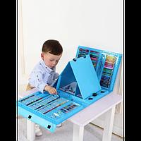 Детский художественный набор для творчества рисования в чемоданчике 208 предметов с мольбертом (0746)