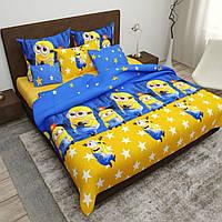 Комплект детского постельного Миньоны, Бязь Голд