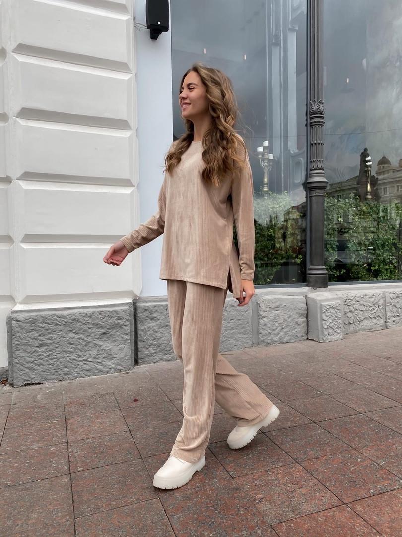 Женский велюровый костюм 13-351