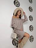 Платье-туника из плотной ангоры с поясом 13-353, фото 4