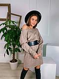 Платье-туника из плотной ангоры с поясом 13-353, фото 5