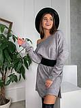 Платье-туника из плотной ангоры с поясом 13-353, фото 6