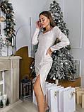 Замшевое платье-футляр с разрезом 13-354, фото 8