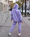 Спортивный костюм женский  лиловый на флисе сезон зима Эми от бренда Тур, размеры: S,M, фото 2