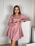 Замшевое расклешенное платье 13-355, фото 2