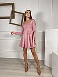 Замшевое расклешенное платье 13-355, фото 7