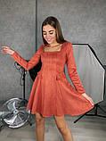 Замшевое расклешенное платье 13-355, фото 3