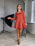 Замшевое расклешенное платье 13-355, фото 8