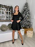 Замшевое расклешенное платье 13-355, фото 10