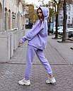 Спортивный костюм женский  лиловый на флисе сезон зима Эми от бренда Тур, размеры: S,M, фото 3