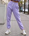 Спортивный костюм женский  лиловый на флисе сезон зима Эми от бренда Тур, размеры: S,M, фото 4