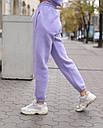 Спортивный костюм женский  лиловый на флисе сезон зима Эми от бренда Тур, размеры: S,M, фото 5