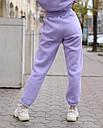 Спортивный костюм женский  лиловый на флисе сезон зима Эми от бренда Тур, размеры: S,M, фото 6