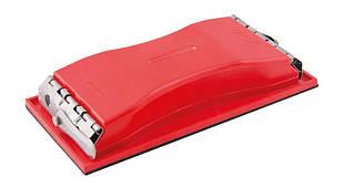 Блок пластиковый для абразивной  сетки 105*210 мм, толщина 3 мм MASTERTOOL 08-0111