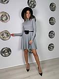 Трикотажное платье миди с сумочкой 13-356, фото 7