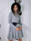 Трикотажное платье миди с сумочкой 13-356, фото 3