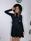Трикотажное платье миди с сумочкой 13-356, фото 2