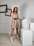 Трикотажное платье миди с сумочкой 13-356, фото 5
