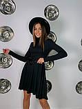 Трикотажное платье миди с сумочкой 13-356, фото 6