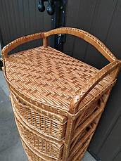 Комод плетений з чотирма ящиками, фото 2