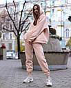 Спортивный костюм женский  бежевый на флисе сезон зима Эми от бренда Тур, размеры: S,M, фото 3