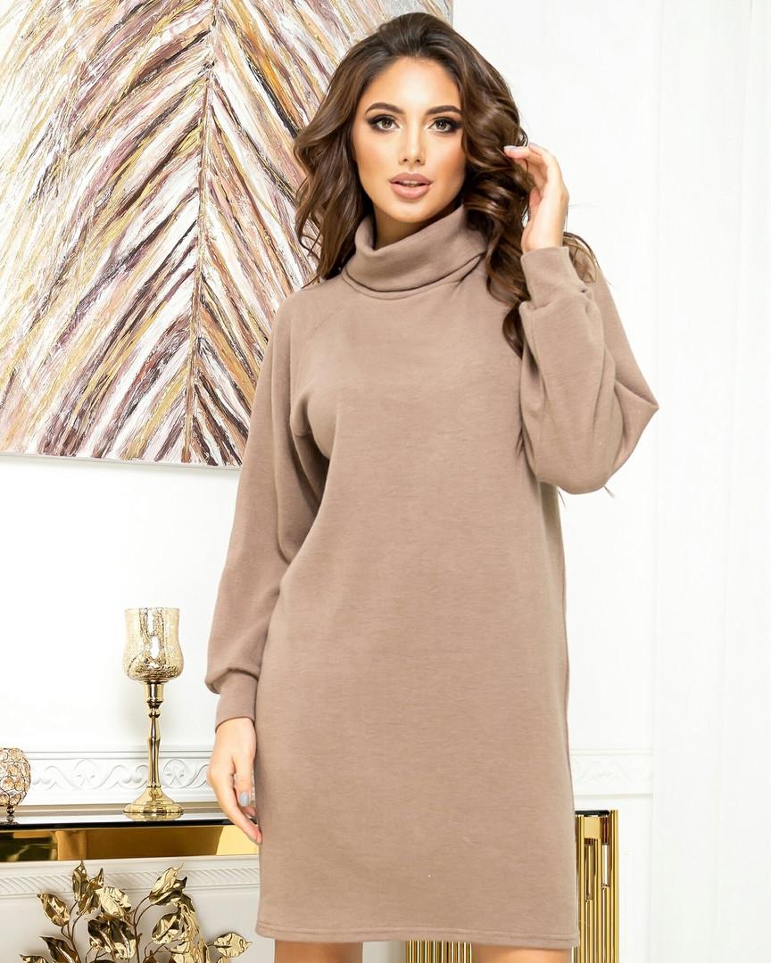 Теплое платье-туника из ангоры 23-609